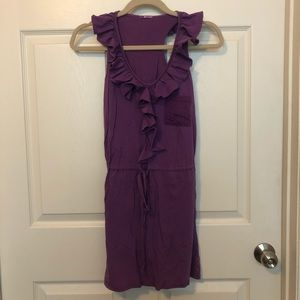 LA Made Purple Ruffle Dress